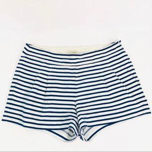 J.Crew Blue and white striped short